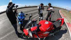 Video Ducati Panigale V4s vs Suzuki GSX-R1000R: making of