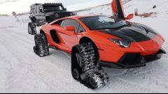 Video: Lamborghini Aventador sulla neve, come andrà?