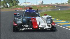 Virtual 24H Le Mans: Raffaele Marciello (Rebellion Williams) in pista dopo la chicane Dunlop
