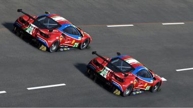 Virtual Le Mans 2020: le Ferrari 488 GTE ufficiali del team Ferrari AF Corse