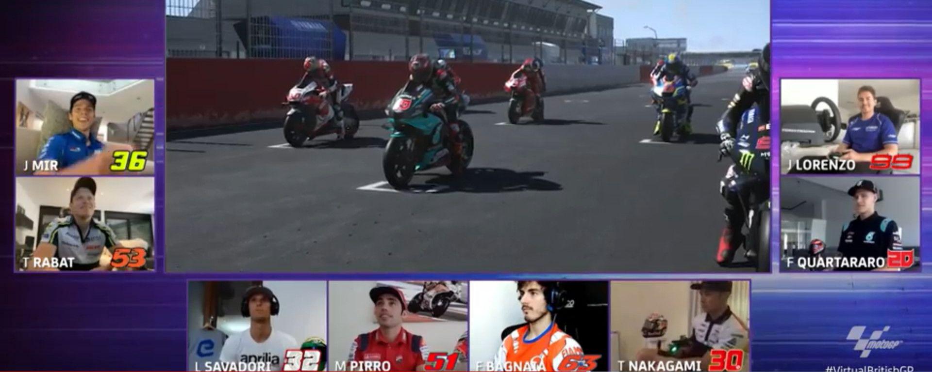 Vittoria a sorpresa nel Virtual MotoGP di Silverstone