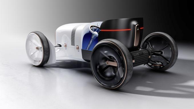 Vision Mercedes Simplex vista di 3/4 posteriore