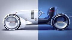 Vision Mercedes Simplex vista di lato
