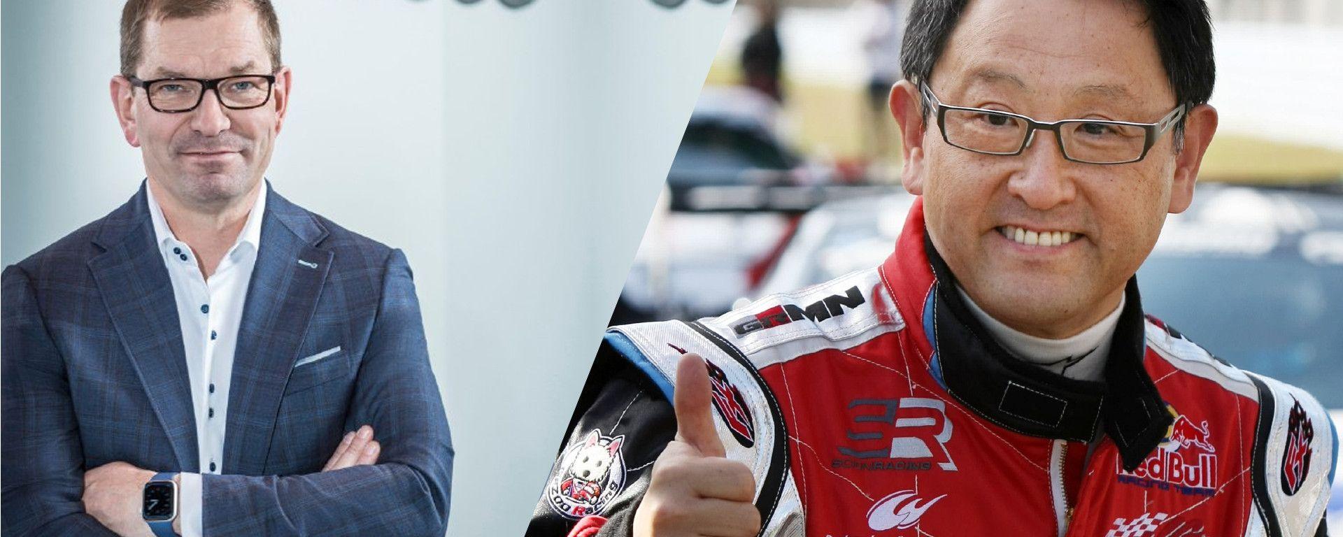 Visioni diverse per Markus Duesmann, CEO di  Audi, e Akio Toyoda, presidente di Toyota