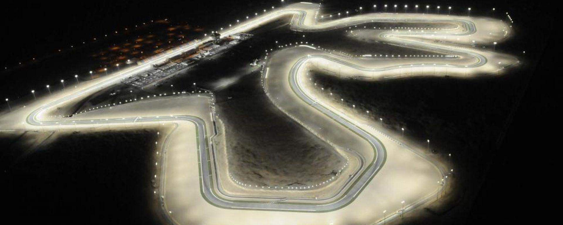 Vista aerea del tracciato di Losail, Qatar