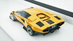 Vista dall'alto, la Lamborghini Countach by Karan Adivi