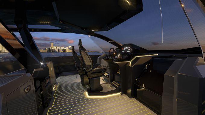 Vista della plancia del Tecnomar for Lamborghini 63