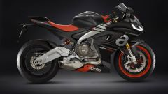 Vista laterale dell'Aprilia RS 660