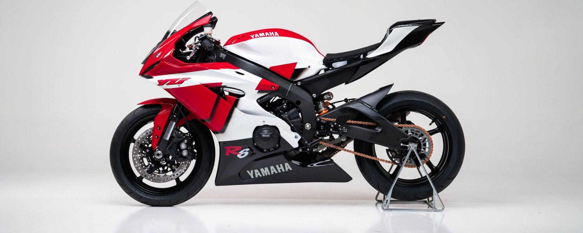 Vista laterale sinistra della Yamaha R6 20th Anniversary realizzata da YART