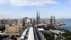 Visuale aerea Circuito Baku
