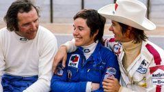 Vittorio Brambilla, Lella Lombardi e Arturo Merzario con il suo inseparabile cappello da cowboy