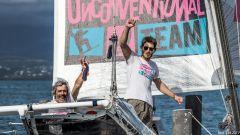 Vittorio e Nico Malingri all'arrivo a Guadalupe