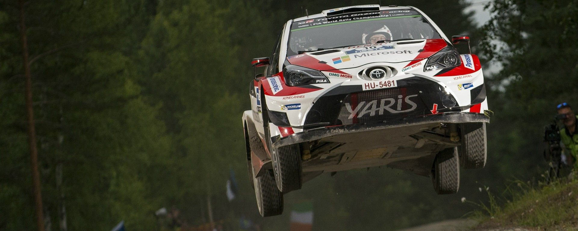 Vola la Toyota Yaris Plus WRC 2017 in cima alla classifica provvisoria del Rally di Finlandia 2017