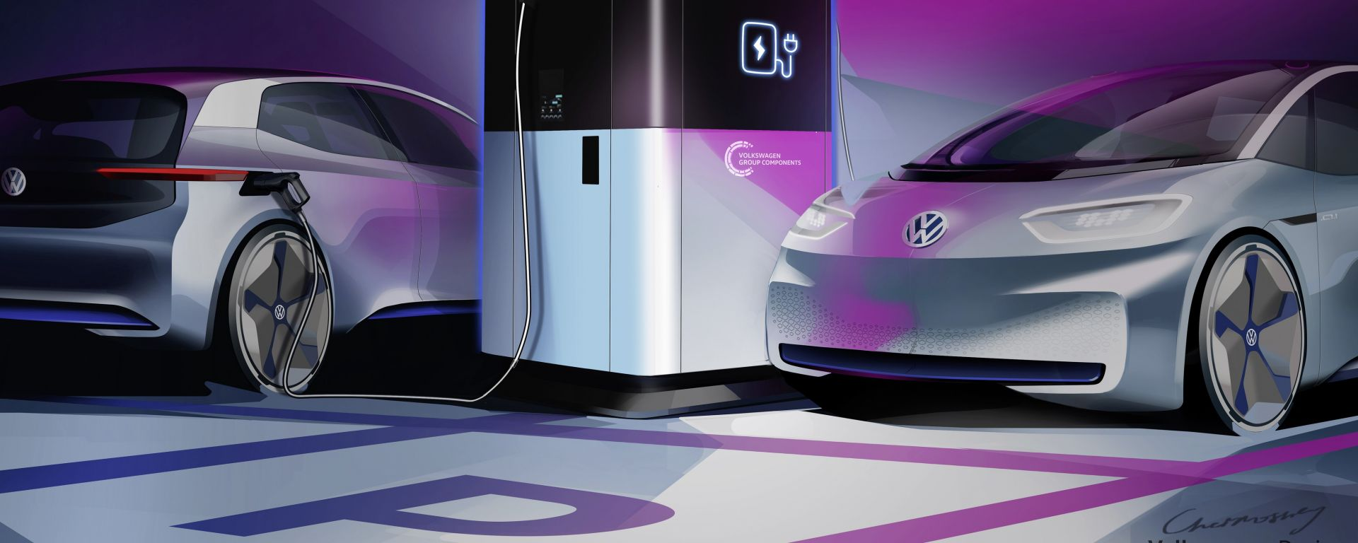 Volkswagen: allo studio una stazione mobile per la ricarica delle auto elettriche