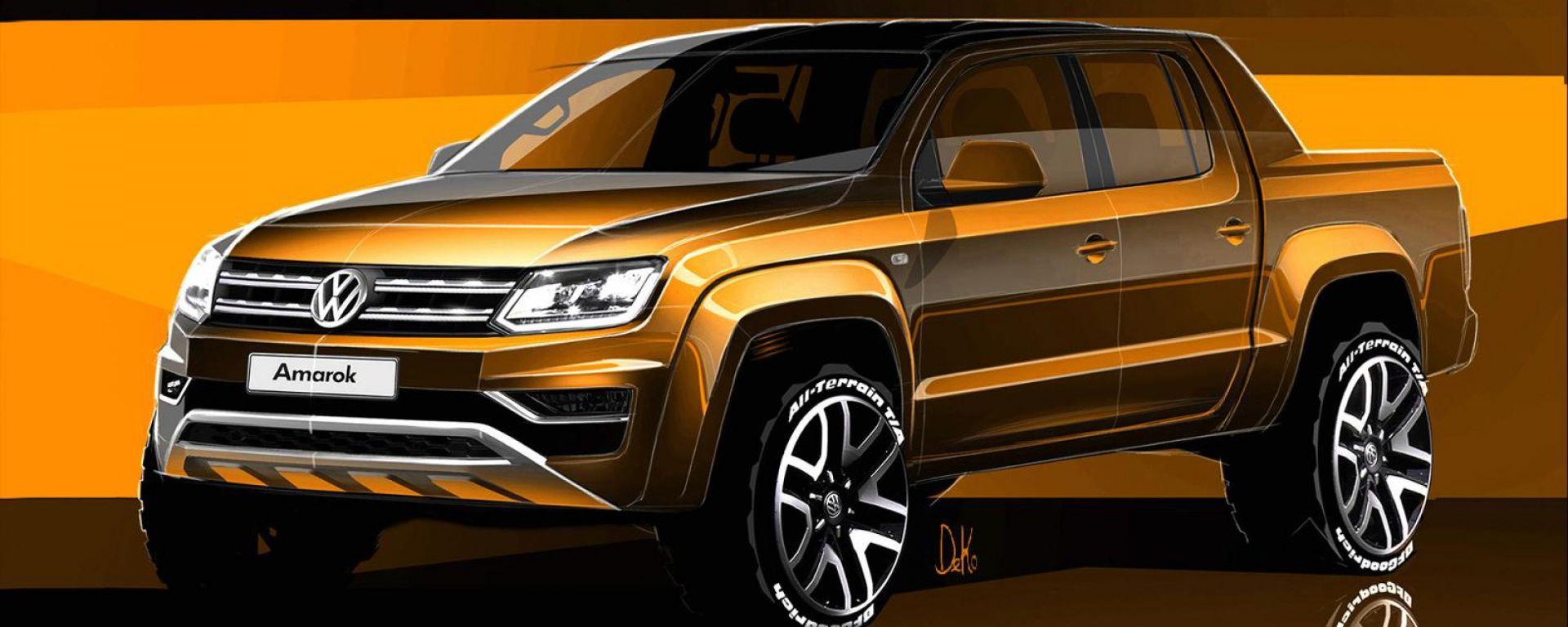 Volkswagen Amarok 2017: i primi teaser del restyling