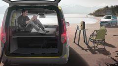Volkswagen Caddy Mini Camper: dietro l'abitacolo un letto di quasi 2 metri con molle a disco