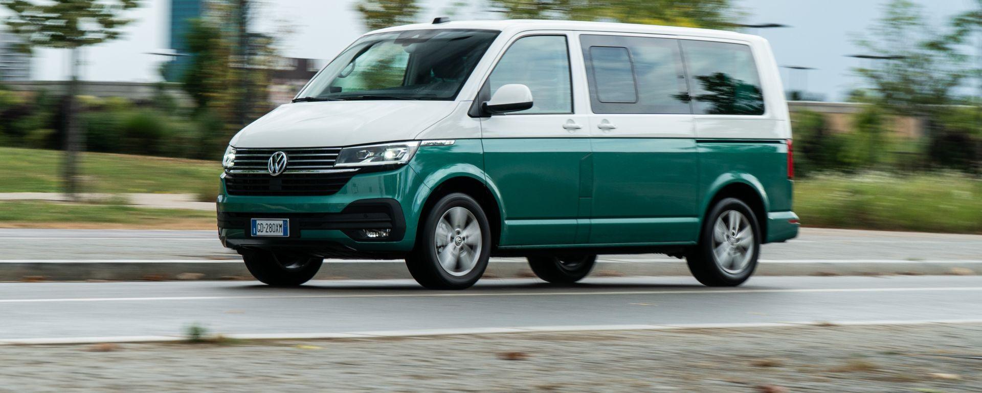 Volkswagen Caravelle, un momento del test drive