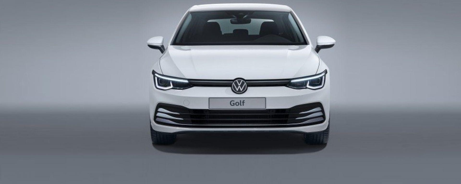 Volkswagen Golf 8 2020: una foto del frontale sfuggita in rete