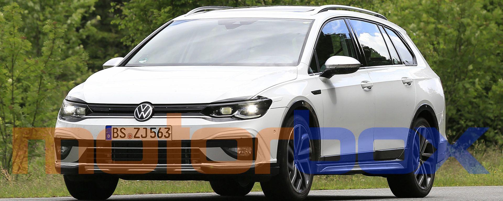 Volkswagen Golf Alltrack 2021: visuale di 3/4 anteriore