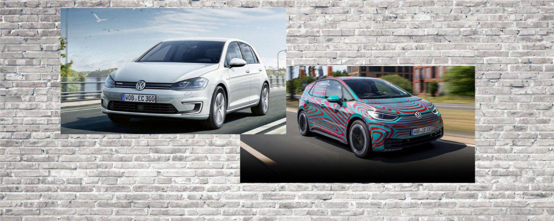 Volkswagen Golf elettrica vs. Volkswagen ID.3: la prova