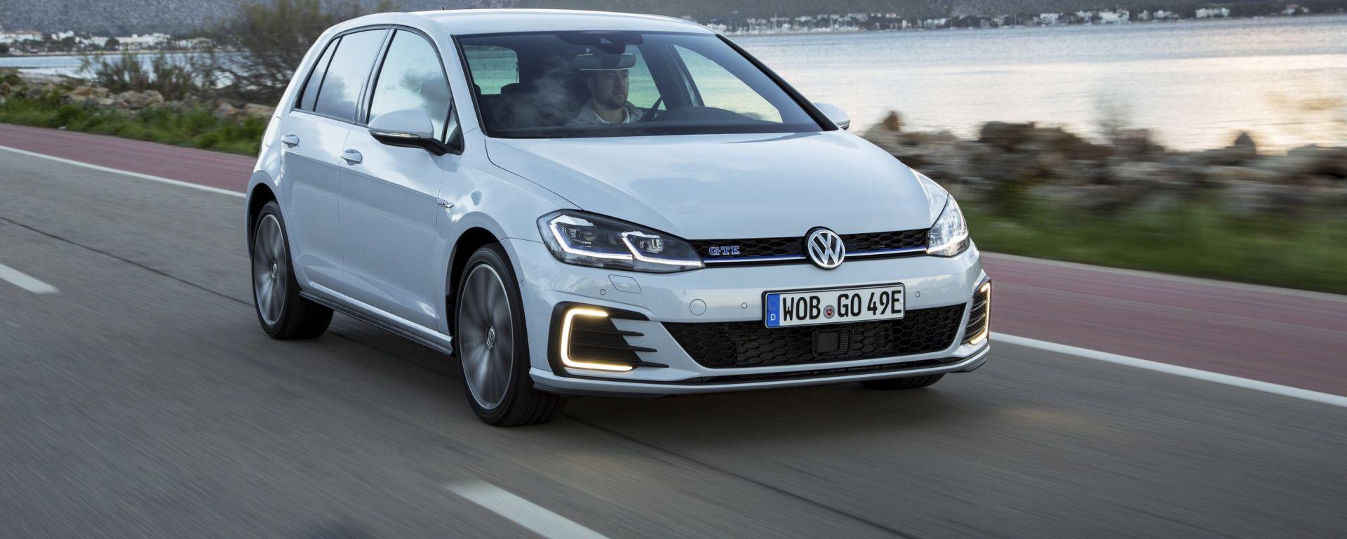 Volkswagen Golf GTE restyling: la compatta ibrida plug-in si rinnova nello stile