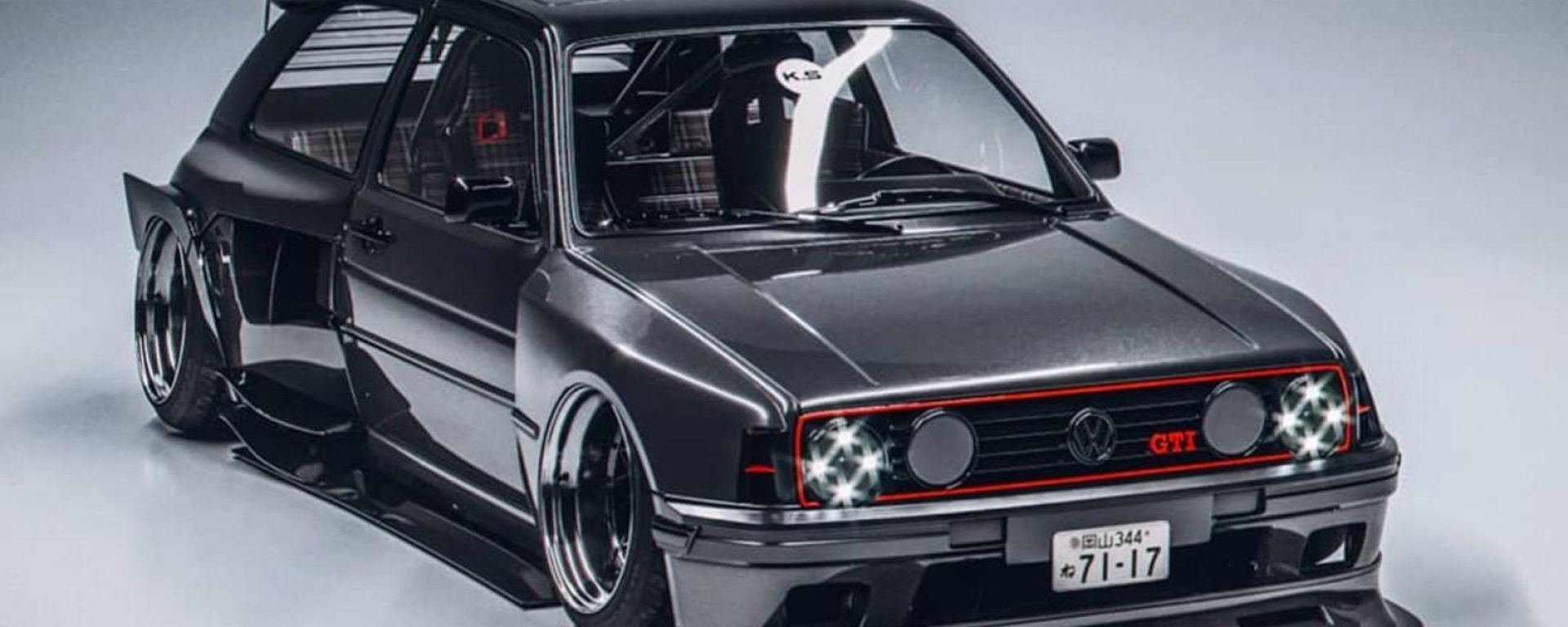 Volkswagen Golf GTI, il kit widebody da rendering a realtà