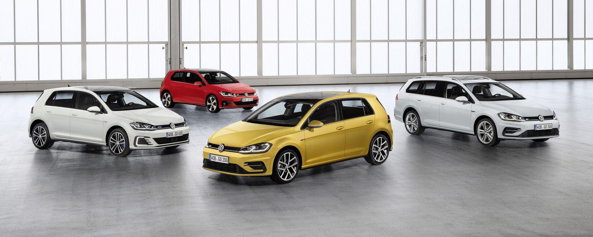Volkswagen Golf: restyling della settima generazione