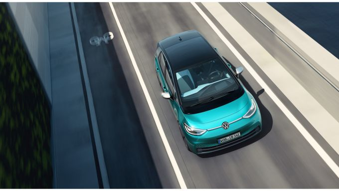 Volkswagen ID.3 1ST dall'alto