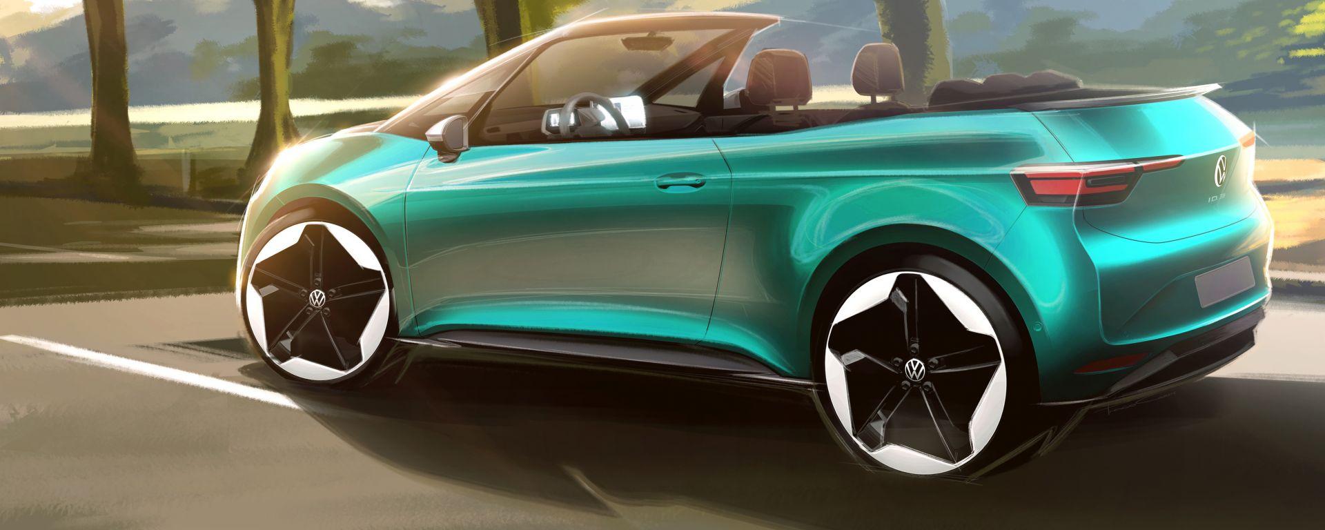 Volkswagen ID.3 cabriolet, primi teaser ufficiali