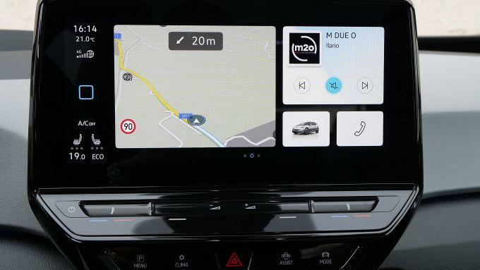 Volkswagen ID.3, il display di navigazione