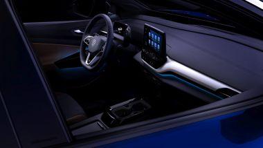 Volkswagen ID.4: il display centrale e le luci ambientali
