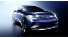 Volkswagen ID.4: il rendering del SUV elettrico