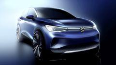 Volkswagen ID.4: uno dei primi bozzetti