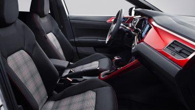 Volkswagen Polo GTI 2021, inconfondibile il tessuto dei sedili