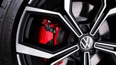 Volkswagen Polo GTI 2021, le pinze rosse dei freni