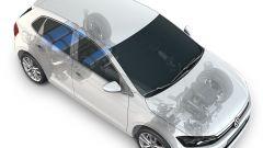 Volkswagen Polo TGI 2019, schema bombole di metano