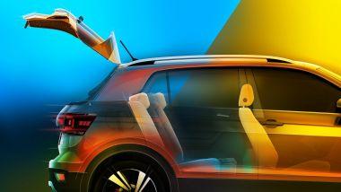 Volkswagen T-Cross 2018 ha il divanetto scorrevole