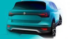Volkswagen T-Cross: il bozzetto del posteriore