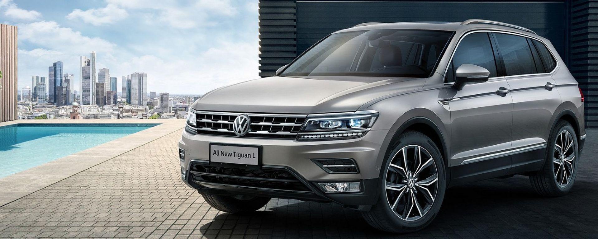 Volkswagen Tiguan Allspace: in Europa si chiama così la nuova Tiguan a passo lungo