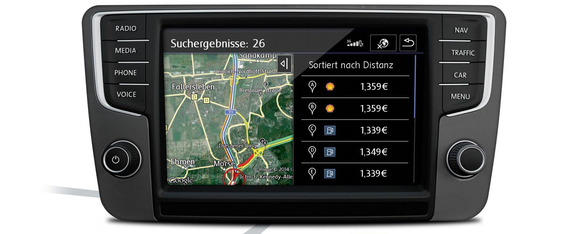 Volkswagen Tiguan: il sistema di infotainment è connesso e offre numerose informazioni