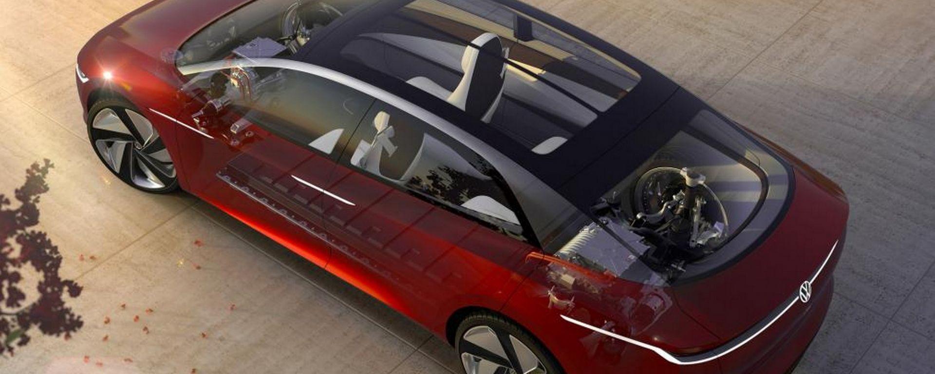 Volkswagen: un'elettrica senza nome sfida la Mercedes Classe S
