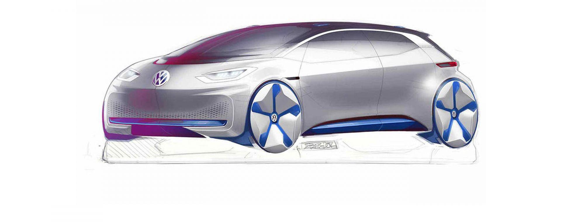 Volkwagen EV Hatchback Concept: la monovolume elettrica per il Salone di Parigi 2016