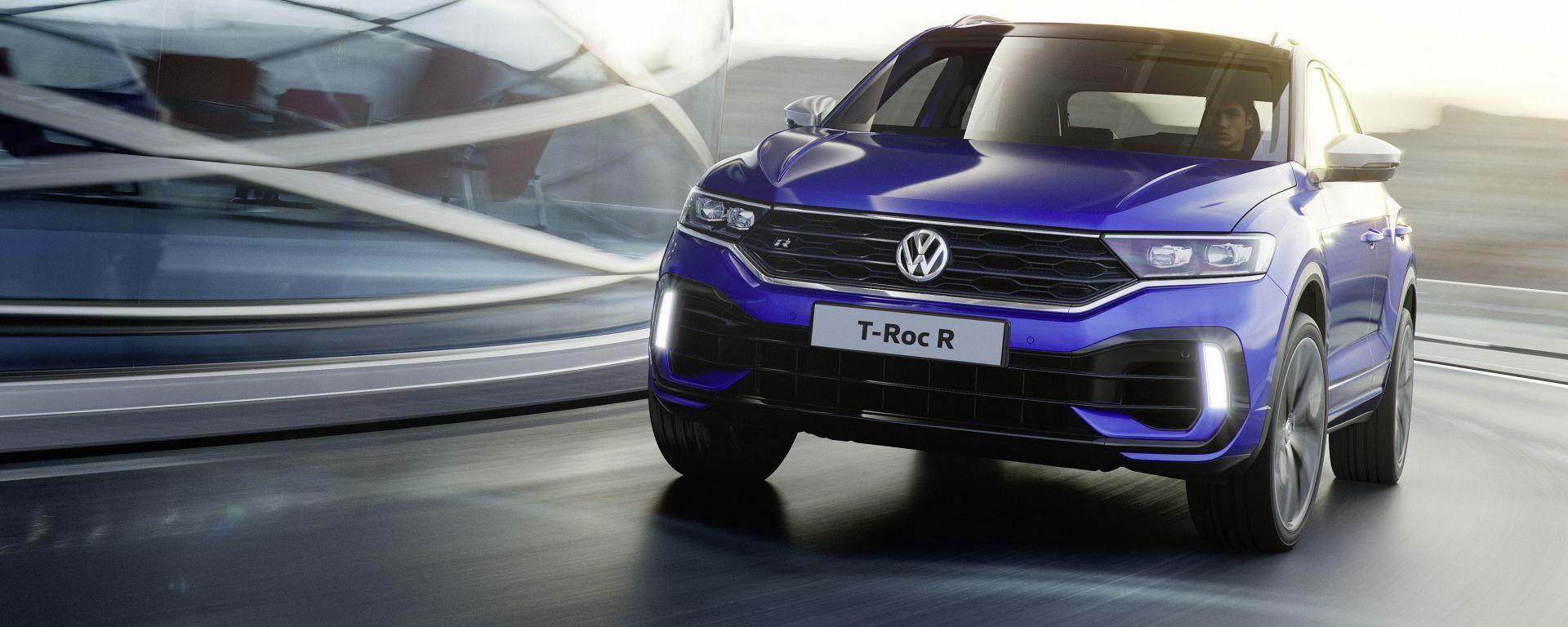 Volkwagen T-Roc R: il frontale