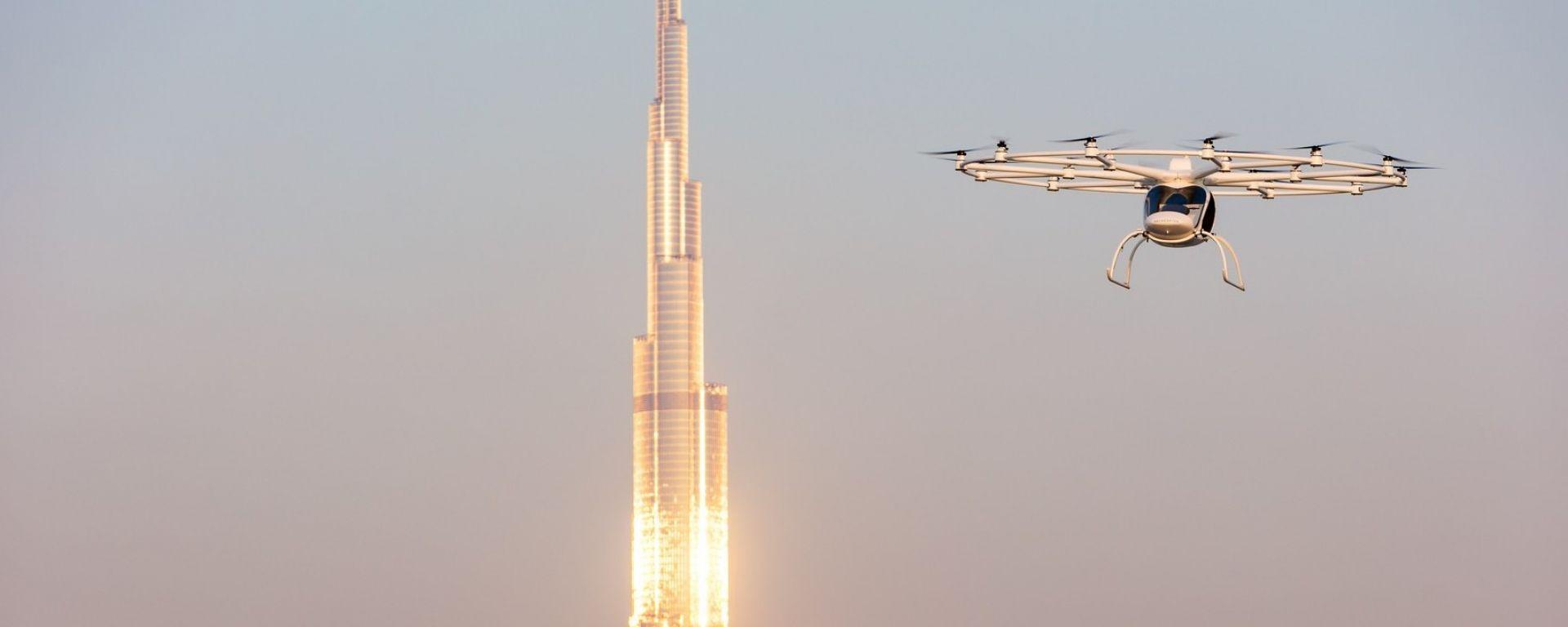 Volocopter 2X, primo test a Dubai