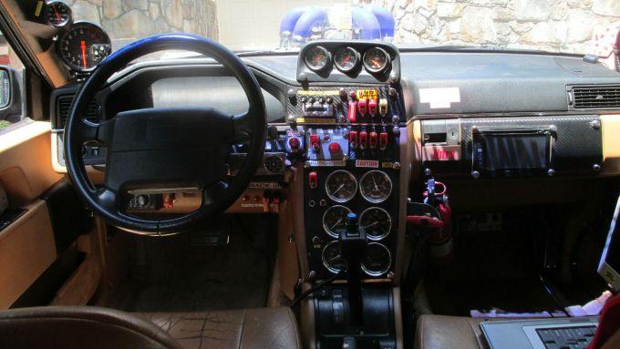 Volvo 960 Turbo Dart racing: la plancia