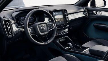 Volvo C40 Recharge, gli interni realizzati in materiali sostenibili