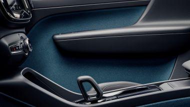 Volvo C40 Recharge, tutti gli interni sono prodotti con materiali sostenibili