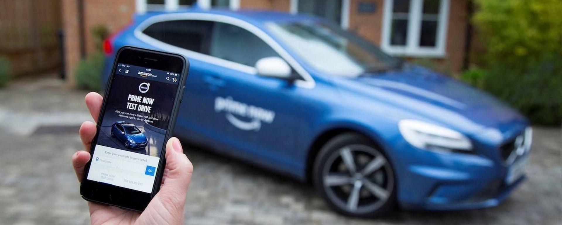 Volvo e Amazon: test drive a domicilio per la V40 con Prime