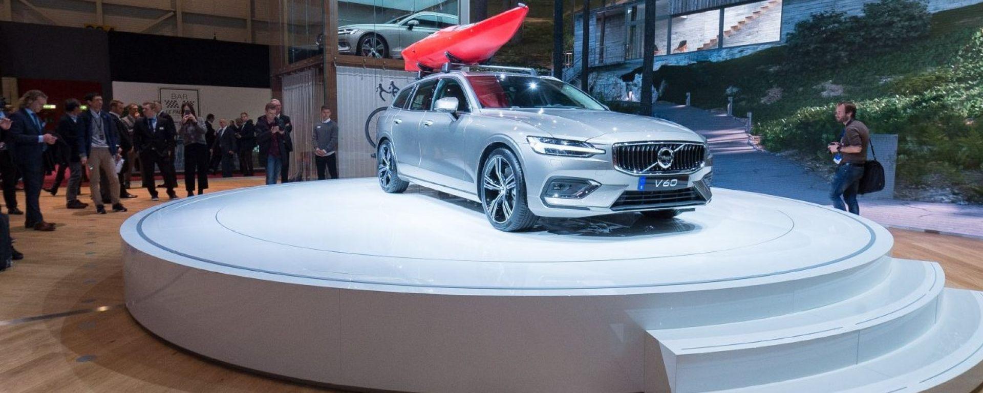 Volvo V60, live Salone di ginevra 2018
