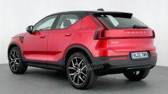 Volvo XC20, la ricostruzione di Auto Express della vista posteriore